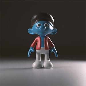 3d painter smurfs model