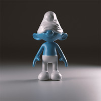 3d sloppy smurfs