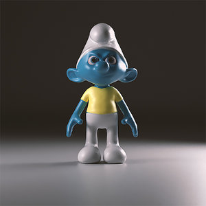 3d snappy smurfs model