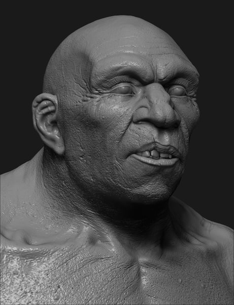 neanderthal reconstruction 3d max