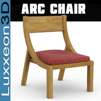 3d arc chair seat model