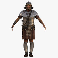 3d model realistic roman soldier