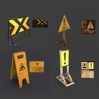 road signs games vr 3d model