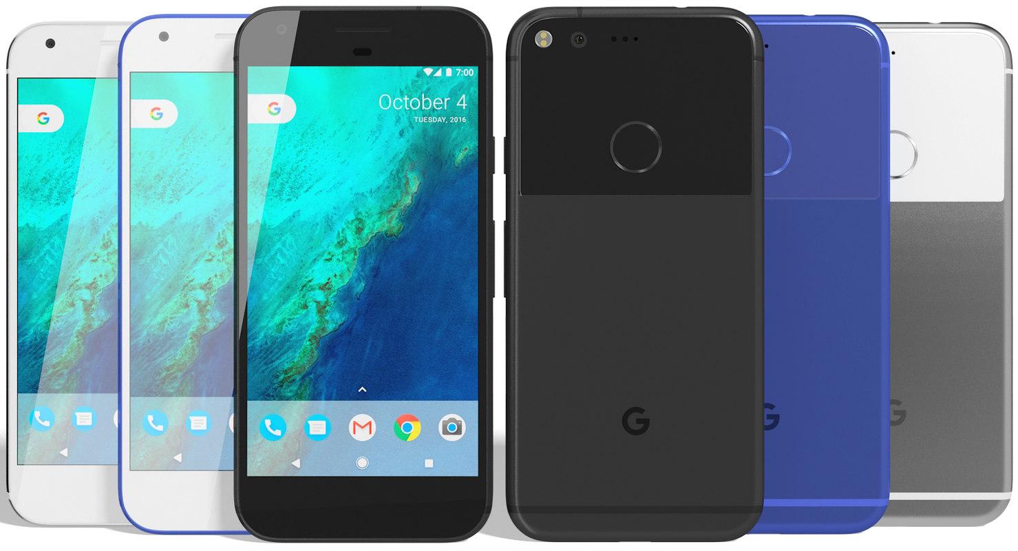 3d model realistic google pixel colors