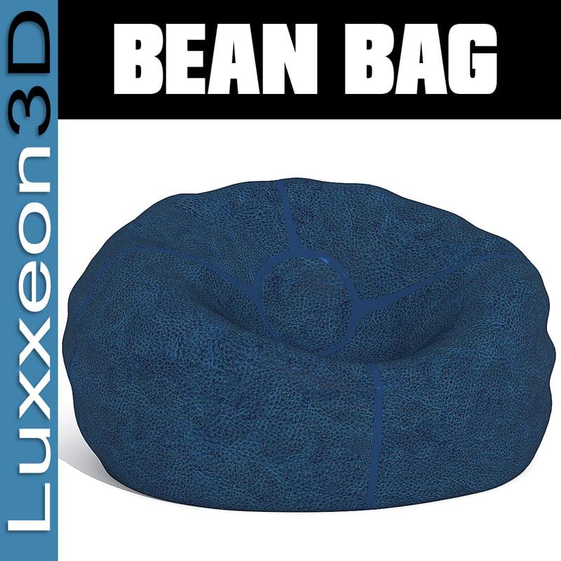 3d leather beanbag bag