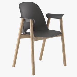 3d armchair alfi emeco