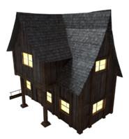 3d model medieval inn