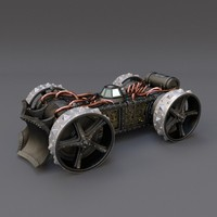 steampunk vehicle fbx