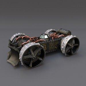steampunk vehicle fbx