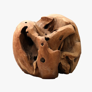 3d model drift wood