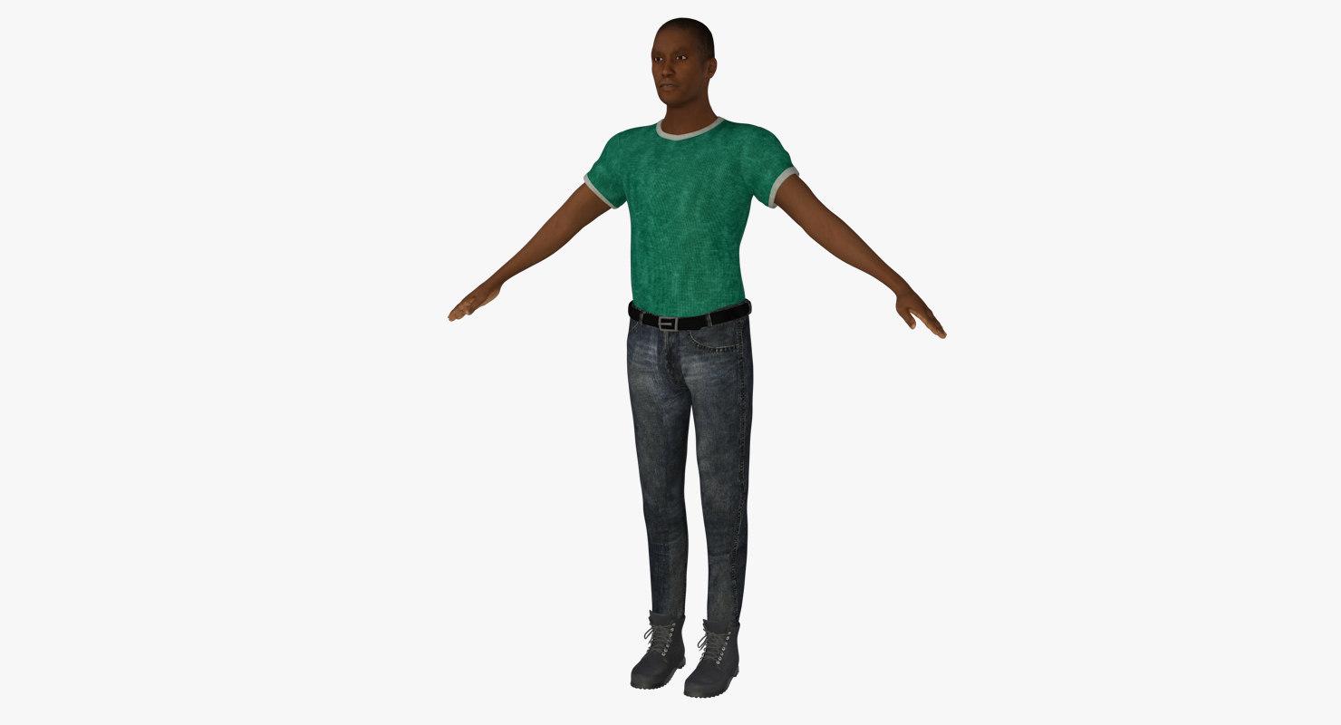 male t-shirt jeans c4d