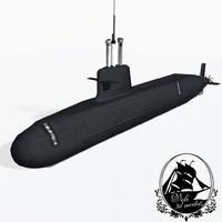 scorpene-class submarines class scorpenes 3d max