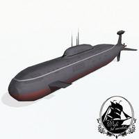 3d akula-class submarine akula class