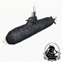german type 212 submarine 3d 3ds