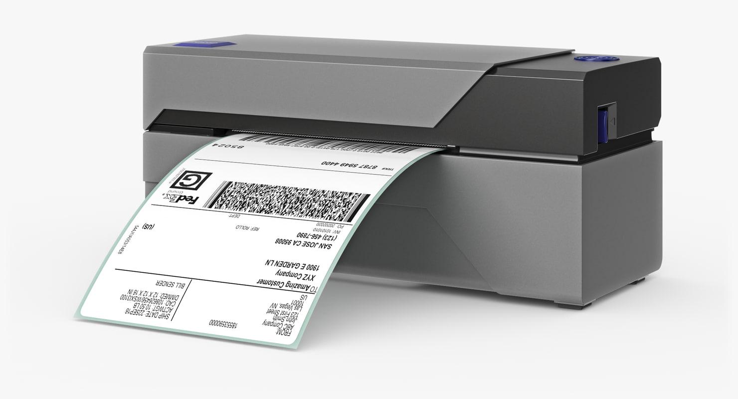barcode printer 3d max