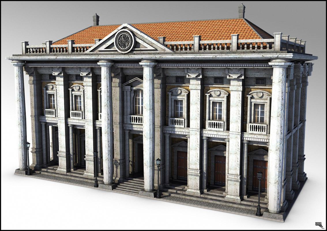 architecture building 3d ma