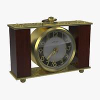 3d model soviet clock
