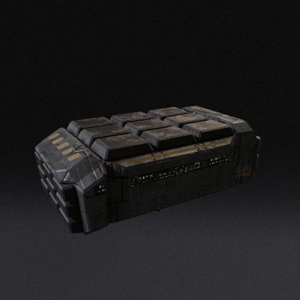 3ds spaceship pbr