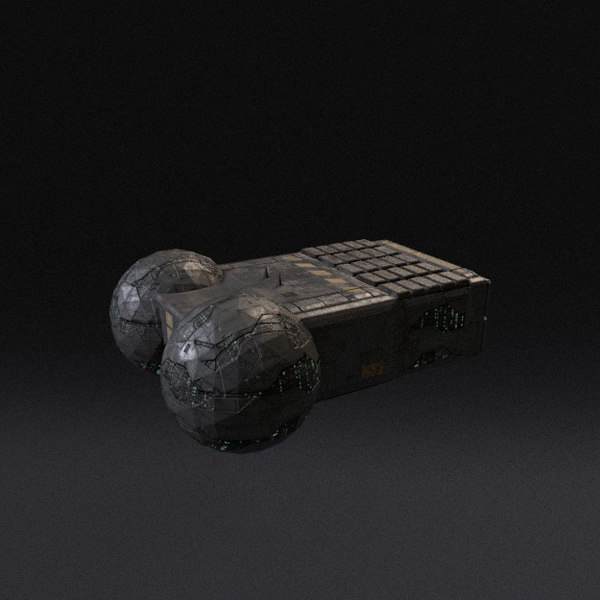 3d spaceship pbr model