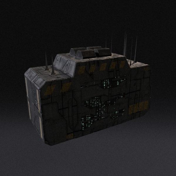 3d model of spaceship pbr