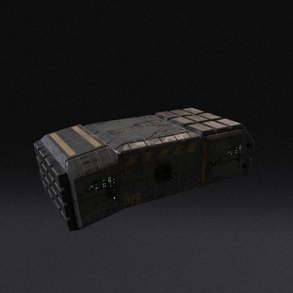 3d spaceship pbr