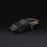 3d model spaceship pbr