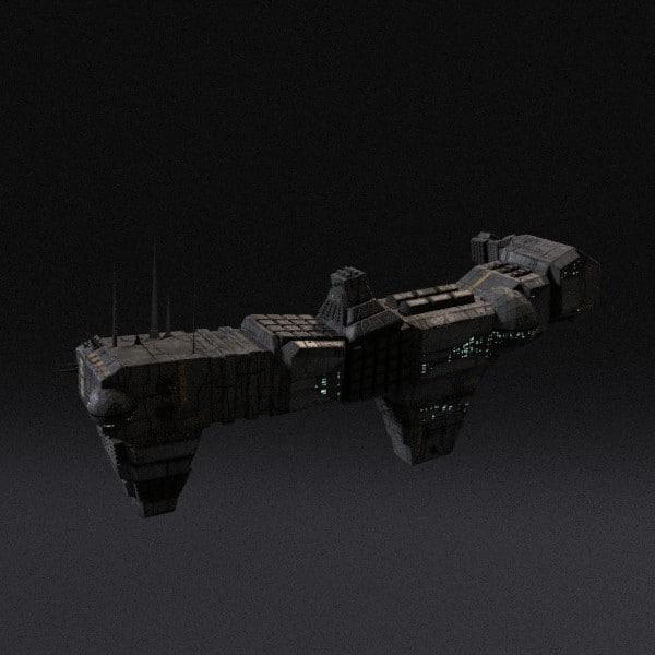 spaceship pbr 3ds