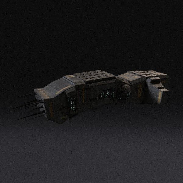 spaceship pbr 3d obj