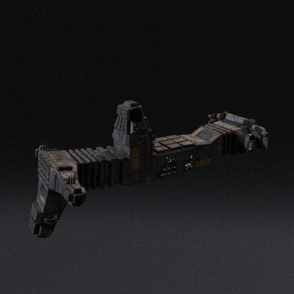 spaceship pbr 3d 3ds