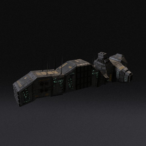 spaceship pbr 3d model