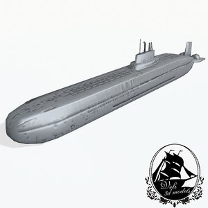 3d russian class submarine typhoon model
