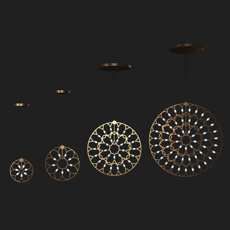 3d pendant light lafra lamp model