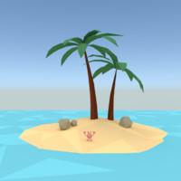 3d model palm stones design