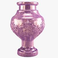 3d vase marble interior model