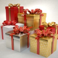 gift boxes set Christmas