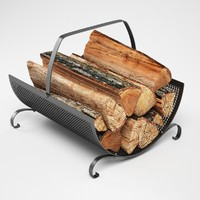 3d model firewood storage rack
