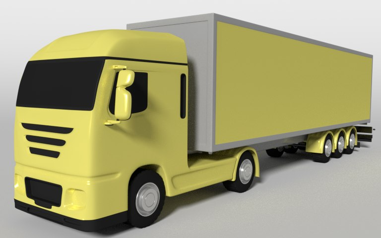 container truck 3d blend