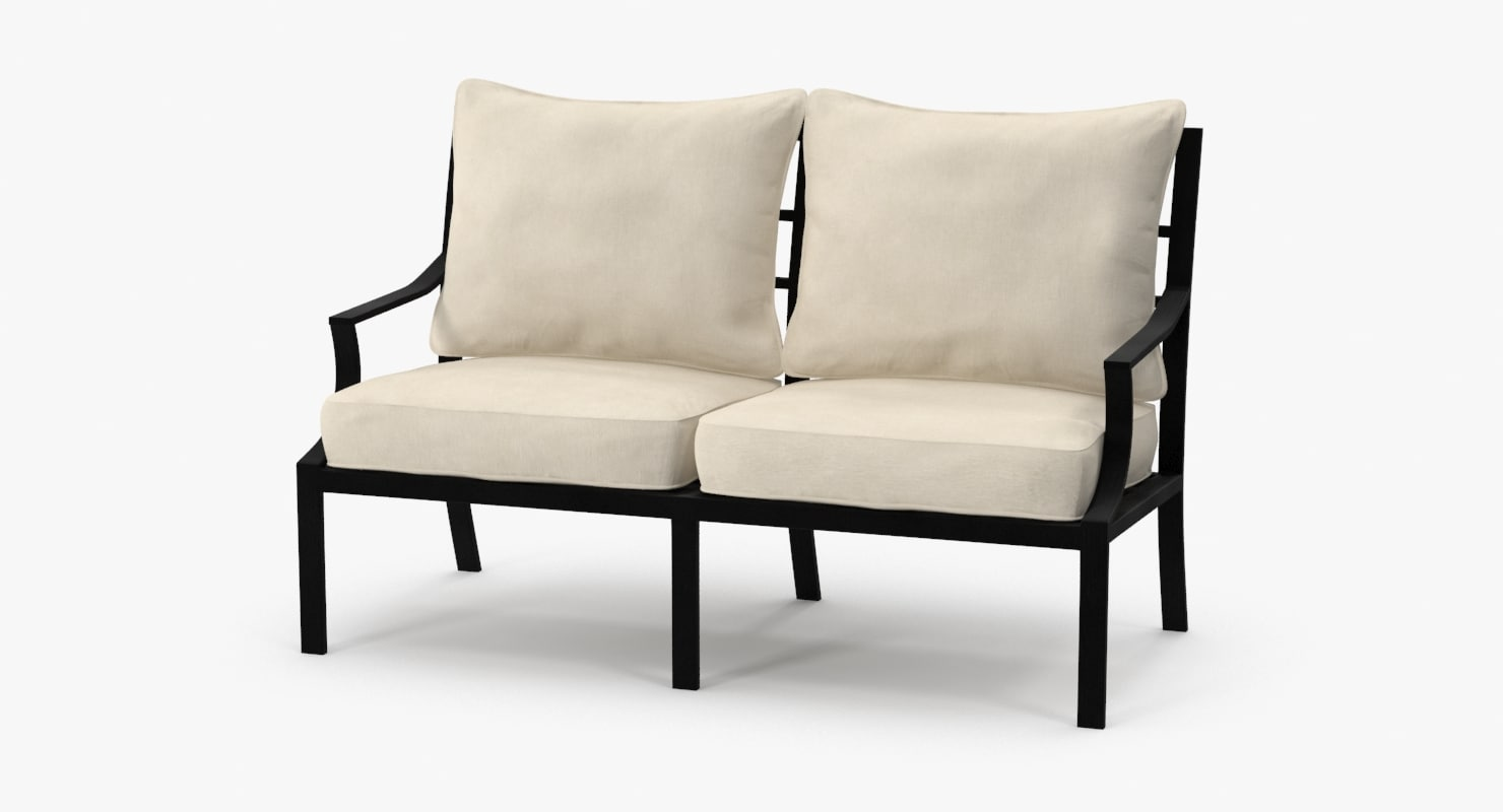 3d patio love seat model