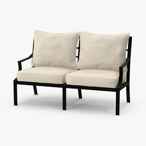 3d patio love seat model