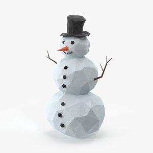 snowman design 3d model