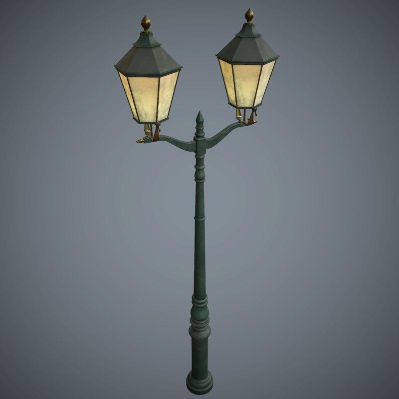 street lamp pbr games 3d model