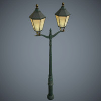 Street Lamp Game Ready Low-Poly PBR