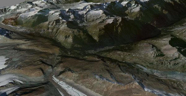 3d zermatt alps