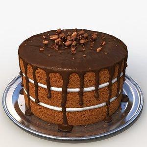 chocolate cake 3d x