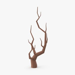 3d model bare desert tree 01