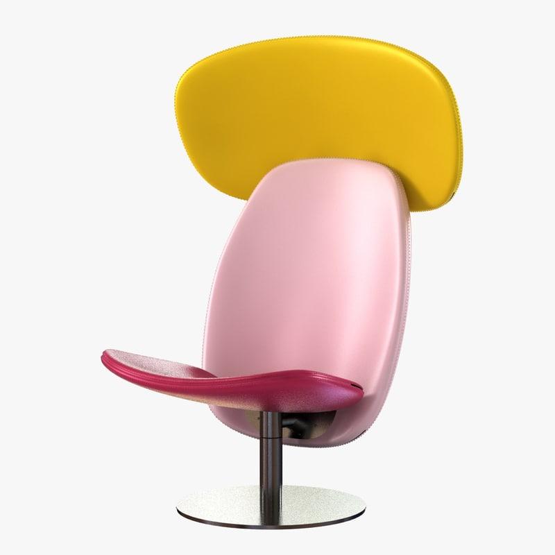 orbit armchair headrest derlot 3d model