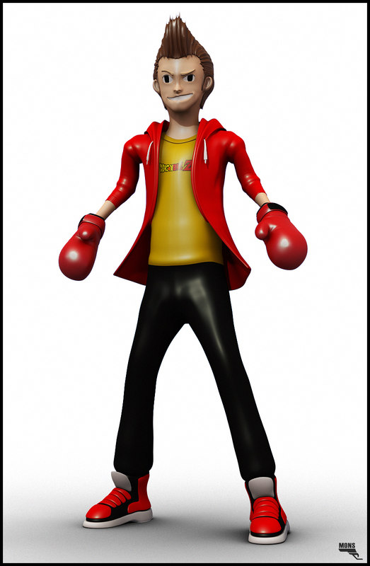 character fully rigged 3d fbx