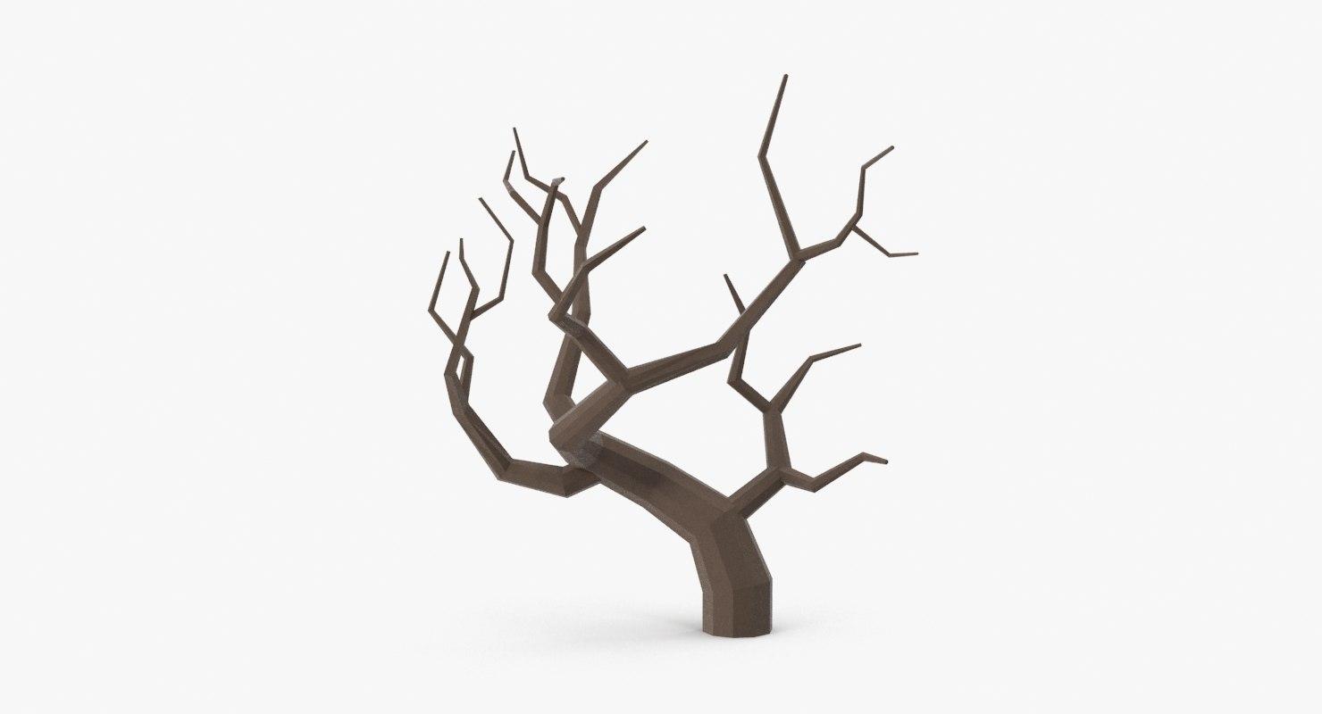 bare desert tree 02 3d model