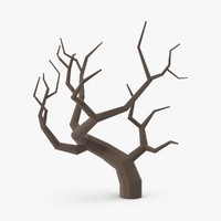bare desert tree 02 3d model
