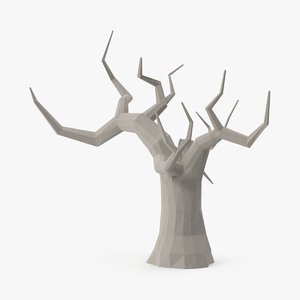 3d model bare desert tree 03